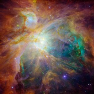 Orion Spitzer and Hubble