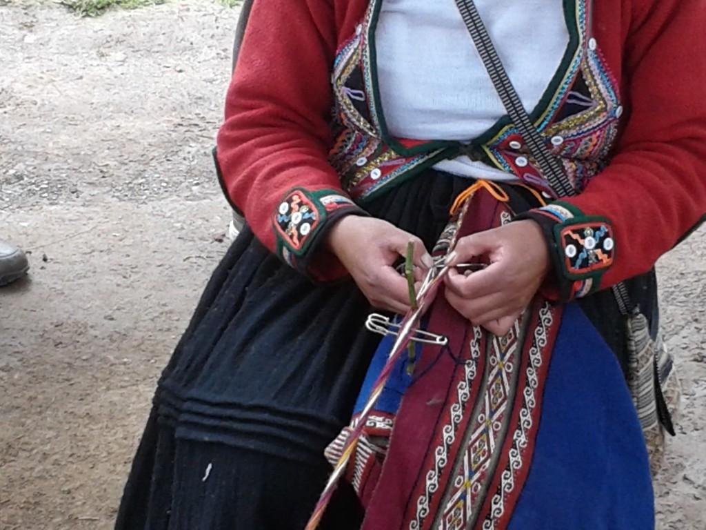 Quechua handweaver in Chinchero, Peru. Photo by D Kovacs.