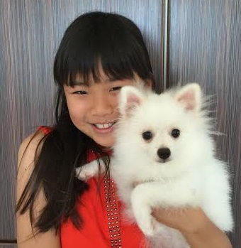 Zoei today, with her dog Cotton