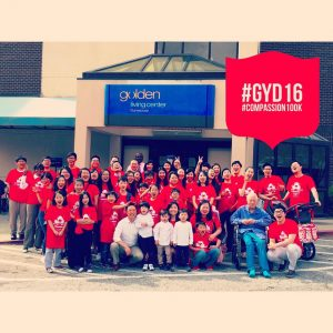 Global Youth Day group at nursing home