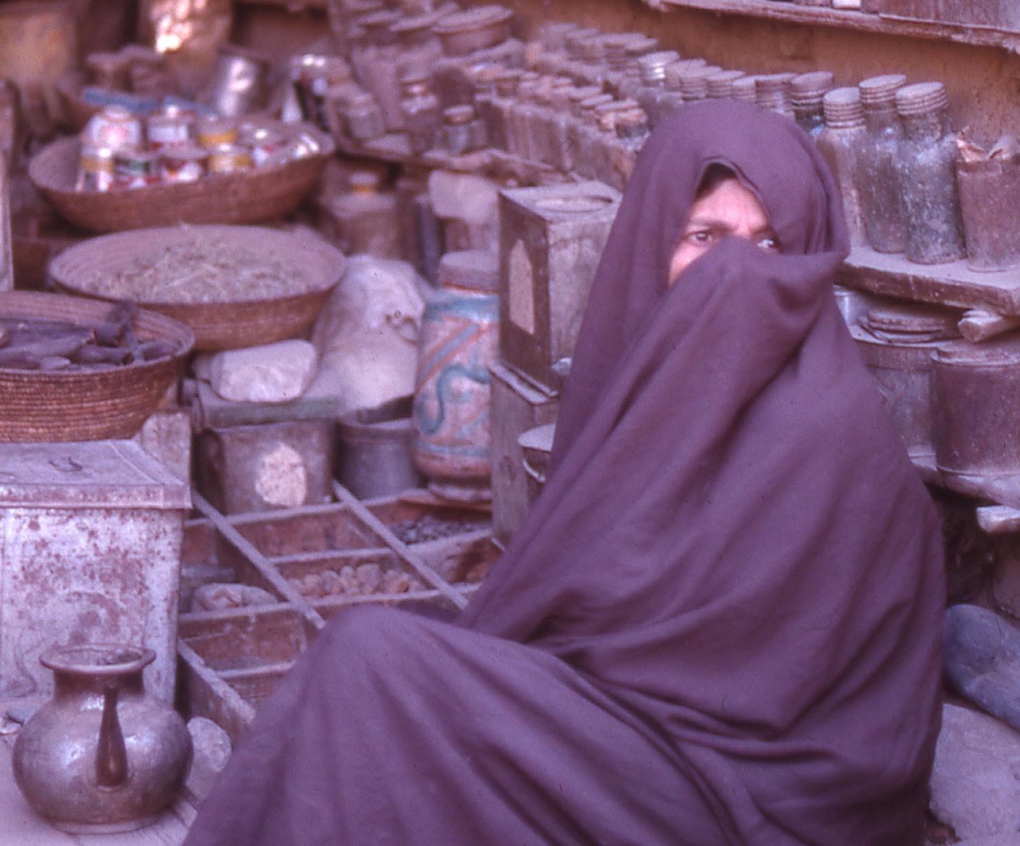 Afghan woman, Kandahar, 1960s. Taken by S M Chen.