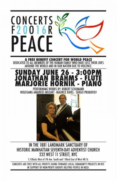 concert for peace, LGBT benefit