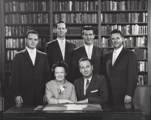 The quartet in 1959: Seated, Virginia Fagal; William Fagal Standing left to right, Stan Schleenbaker, Walt Isensee, Tom Studley, Herb Hohensee Photo provided by S. Schleenbaker
