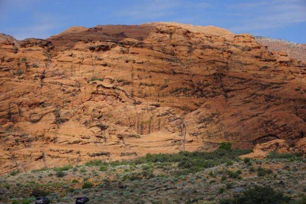 Figure 2. Crossbedded Navajo Sandstone (Snow Canyon, St. George, UT)