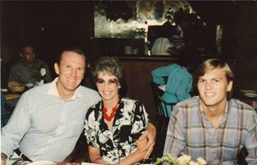 Beth Petersen in 1983 with her son Gary and friend Sandy Young, then Glendale Adventist Academy Elementary principal. Photo by permission of Carole Derry-Bretsch, taken in 1983 when they became friends.